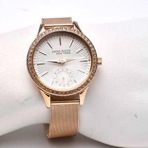 Anne Klein Rose Gold Watch Swarovski Crystals